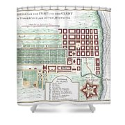 1750 Bellin Map Of Cape Town South Africa Shower Curtain