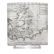 1757 Bellin Map Of South Africa And The Cape Of Good Hope Shower Curtain by Paul Fearn