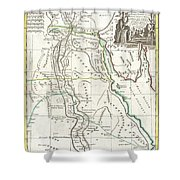1762 Bonne Map Of Egypt  Shower Curtain