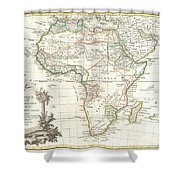 1762 Janvier Map Of Africa Shower Curtain