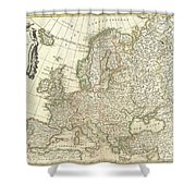 1762 Janvier Map Of Europe  Shower Curtain
