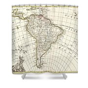 1762 Janvier Map Of South America  Shower Curtain