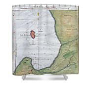 1763 Bellin Map Of Cape Town  Shower Curtain