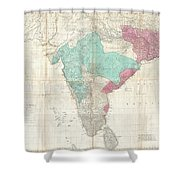 1768 Jeffreys Wall Map Of India And Ceylon Shower Curtain
