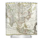 1770 Janvier Map Of Asia Shower Curtain by Paul Fearn