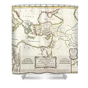 1771 Bonne Map Of The New Testament Lands Holy Land And Jerusalem Shower Curtain