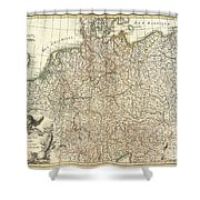 1771 Rizzi Zannoni Map Of Germany And Poland Shower Curtain