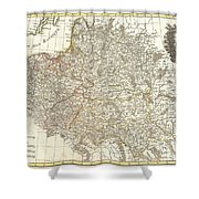 1771 Zannoni Map Of Poland And Lithuania Shower Curtain