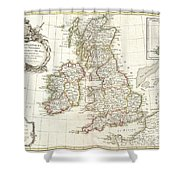 1771 Zannoni Map Of The British Isles  Shower Curtain
