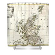 1772 Bonne Map Of Scotland  Shower Curtain