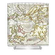 1772 Vaugondy Diderot Map Of Alaska The Pacific Northwest And The Northwest Passage Shower Curtain