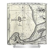 1773 Bellin Map Of The Cape Of Good Hope Capetown South Africa Shower Curtain