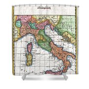 1780 Raynal And Bonne Map Of Italy Shower Curtain