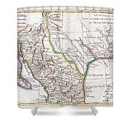 1780 Raynal And Bonne Map Of Mexico And Texas  Shower Curtain