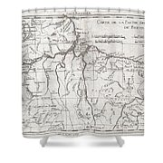 1780 Raynal And Bonne Map Of Northern Brazil Shower Curtain