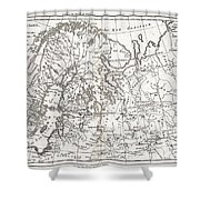1780 Raynal And Bonne Map Of Northern Europe And European Russia Shower Curtain