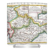1780 Raynal And Bonne Map Of Northern India Shower Curtain