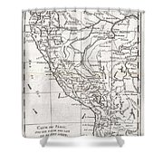 1780 Raynal And Bonne Map Of Peru Shower Curtain