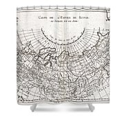 1780 Raynal And Bonne Map Of Russia Shower Curtain