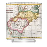 1780 Raynal And Bonne Map Of Southern United States Shower Curtain