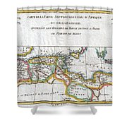 1780 Raynal And Bonne Map Of The Barbary Coast Of Northern Africa Shower Curtain