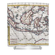 1780 Raynal And Bonne Map Of The East Indies Singapore Java Sumatra Borneo Shower Curtain