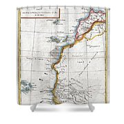 1780 Raynal And Bonne Map Of Western Africa Shower Curtain