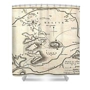 1784 Bocage Map Of Athens Greece Shower Curtain
