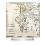 1786 Bocage Map Of Messenia In Ancient Greece Shower Curtain