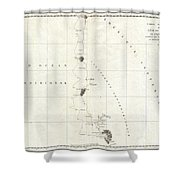1786 La Perouse Map Of San Francisco Monterey Bay California And Oregon Shower Curtain
