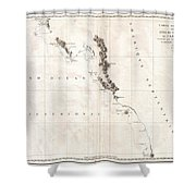 1786 La Perouse Map Of Vancouver And British Columbia Canada Shower Curtain