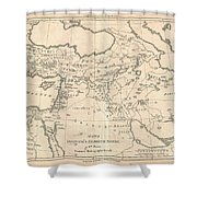 1787 Bonne Map Of The Dispersal Of The Sons Of Noah Shower Curtain