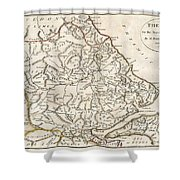 1788 Bocage Map Of Thessaly In Ancient Greece Shower Curtain
