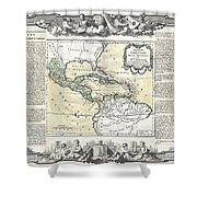 1788 Brion De La Tour Map Of Mexico Central America And The West Indies Shower Curtain