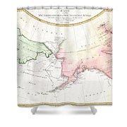 1788 Schraembl Map Of The Northwest Passage Shower Curtain