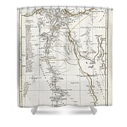 1794 Anville Map Of Ancient Egypt  Shower Curtain