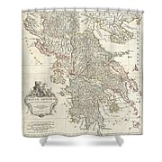 1794 Anville Map Of Ancient Greece  Shower Curtain
