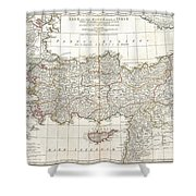 1794 Anville Map Of Asia Minor In Antiquity Shower Curtain