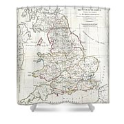 1794 Anville Map Of England In Ancient Roman Times Shower Curtain