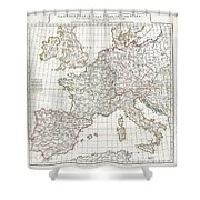 1794 Anville Map Of Europe In Late Roman Times Shower Curtain