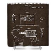 1794 Eli Whitney Cotton Gin Patent 2 Espresso Shower Curtain