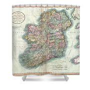 1799 Cary Map Of Ireland  Shower Curtain