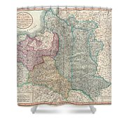 1799 Cary Map Of Poland Prussia And Lithuania  Shower Curtain