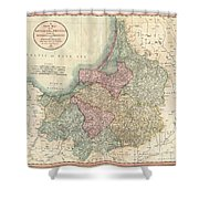 1799 Cary Map Of Prussia And Lithuania  Shower Curtain