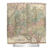 1799 Cary Map Of Swabia Germany Shower Curtain