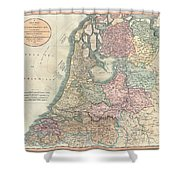1799 Cary Map Of The Netherlands Shower Curtain