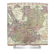 1799 Cary Map Of The Upper And Lower Rhine Shower Curtain