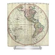 1799 Cary Map Of The Western Hemisphere  Shower Curtain