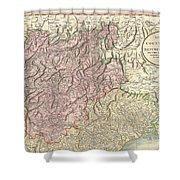 1799 Cary Map Of Tyrol Shower Curtain
