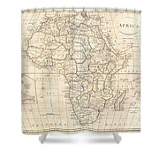 1799 Clement Cruttwell Map Of Africa  Shower Curtain